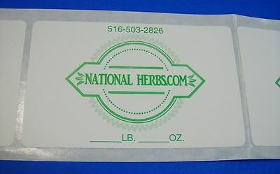 Printed Labels 250 Custom 2.5 X 4 Rectangle Business Stickers 1-color Ink