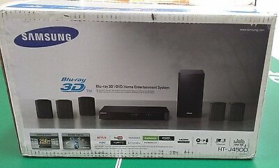 SAMSUNG HT-J4500 B RAY 3D/DVD 5.1 CHANNEL HOME ENT SYSTEM (Brand New Never Used)