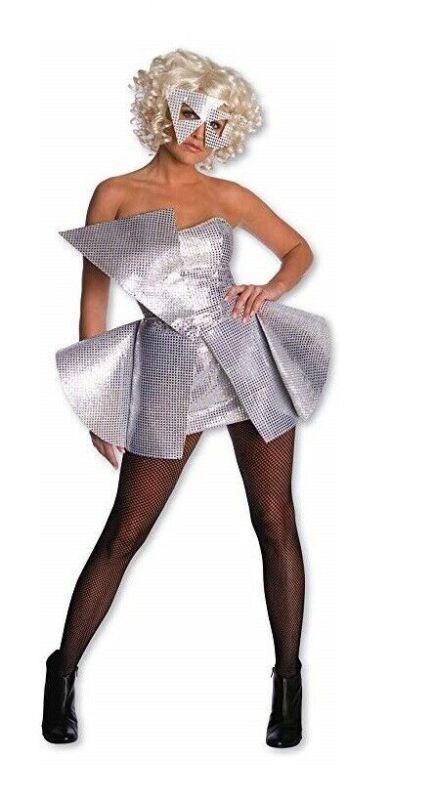 Rubies Lady Gaga Silver Sequin Dress Womens Halloween Costume Size XS