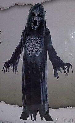 NEW Wailing Ghost Halloween Costume Boys Medium 8-10 XL 14-16 Creepy Scary Gray