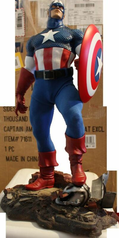 Sideshow Captain America Exclusive Statue Nib Never Displayed Not Bowen Iron Man