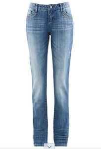 stretch boyfriend jeans mit nieten ebay. Black Bedroom Furniture Sets. Home Design Ideas