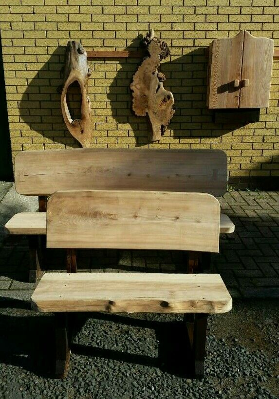Live edge elm bench . Church pew scotland