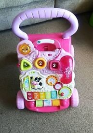 Pink girl baby walker with sound AND LIGHT