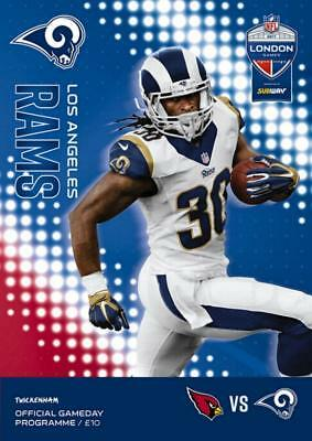 * 2017 - NFL AT TWICKENHAM PROGRAMME - LOS ANGELES RAMS v ARIZONA CARDINALS *
