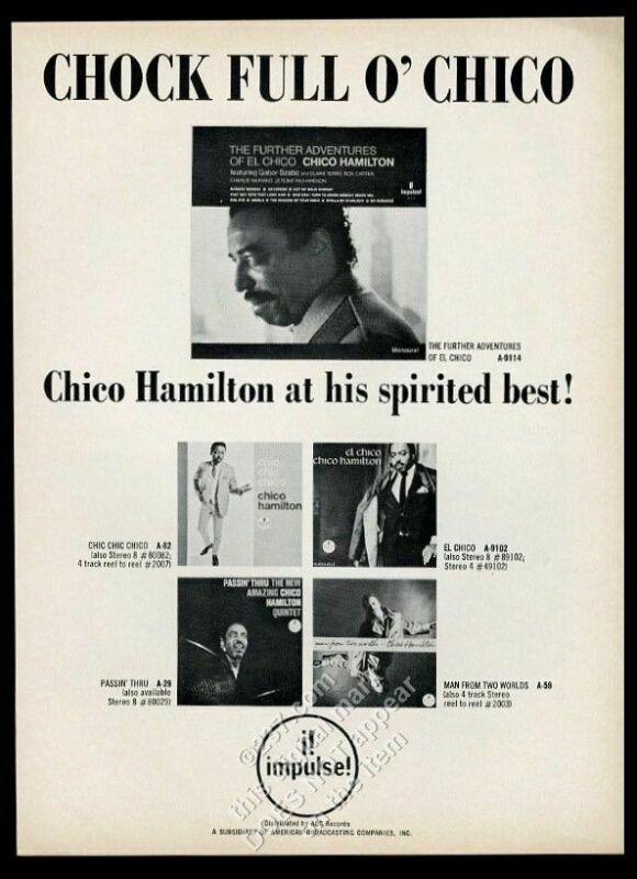 1966 Chico Hamilton photo Impulse Records vintage print ad