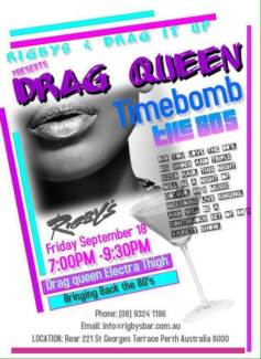 Drag Queen Timebomb 80's West Perth Perth City Preview