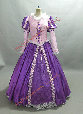 Disney Princess Rapunzel Costume adult SIZE 6,8,10,12,14,16 purple/ pinkdress](Disney Princess Dresses Adult)