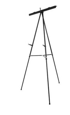 Boone 64 Adjustable Black Flip Chart Stand