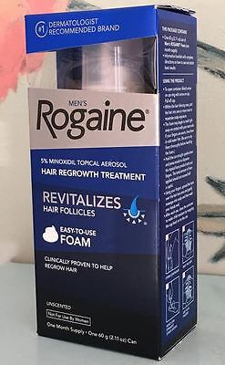 Men's Rogaine 1 Month Supply Unscented Foam Hair Regrowth Treatment EXP 2017/05