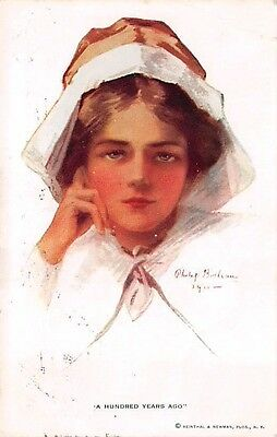 """Signed Philip Boileau, u. 1913 Pretty Lady """"A Hundred Years Ago"""" Series #207"""