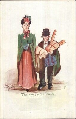 PCK Comic - The Wolf Lamb Funny Old Couple c1905 - Funny Old Couples