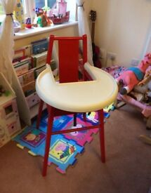 IKEA Wooden Highchair with Tray