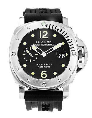 PAM00024 PANERAI Luminor Submersible Men's Watch 44mm Black Rubber Strap NEW
