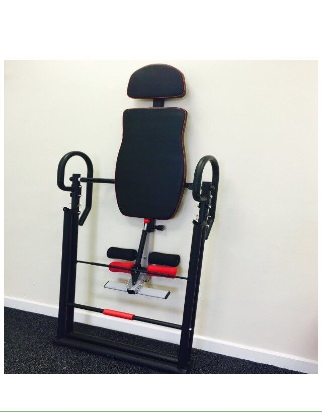 Inversion table, back ache relief, physio, pain relief