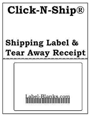 200 - Usps Click-n-ship With Tear Off Receipt. Shipping Labels Address Barcode