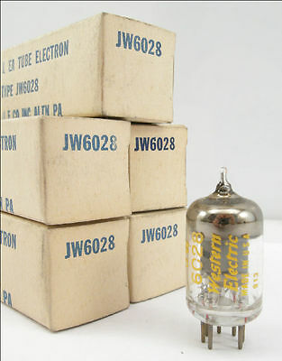 Qty 5, Western Electric 408A, JW 6028, Tubes, New Old Stock, 1959, Matched CD