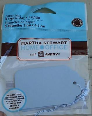 Martha Stewart Home Office Paper Tags - Blue - Brand New In Package