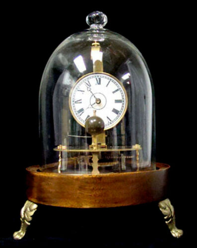 Mystery Briggs Rotary Glass Dome Flying Ball Clock