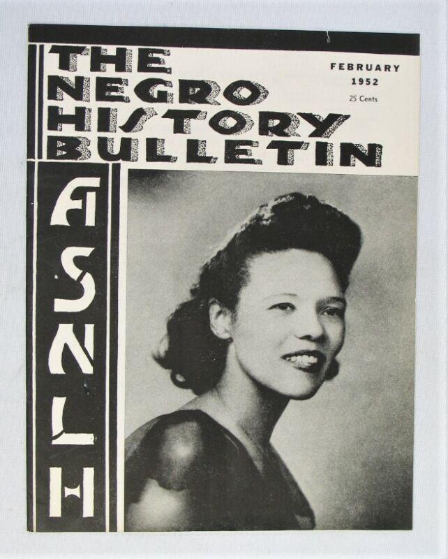 Vintage Magazine - The Negro History Bulletin - ASNLH -- Feb. 1952