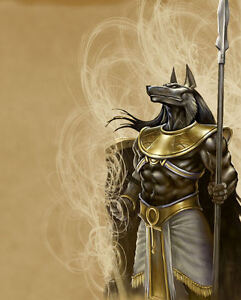 A4-Poster-The-Egyptian-God-of-the-Dead-Anubis-Mythological-Fantasy-Picture