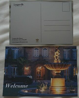 LONGUEVILLE MANOR LUXURY 5 STAR HOTEL JERSEY POSTCARD CHANNEL ISLANDS *