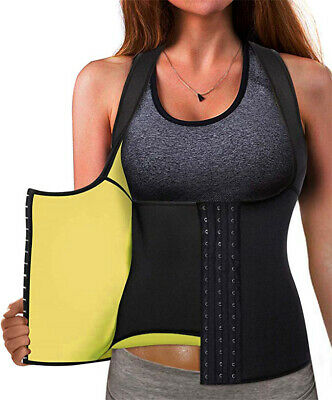 Best Neoprene Waist Trainer Corset Sweat Vest Weight Loss Body Shaper Workout