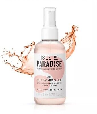 Isle of Paradise Self-Tanning Water-Light/ Hello Sunkissed Glow 6.76oz/200mL NEW