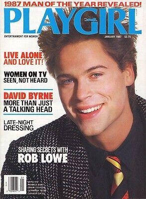 Playgirl January 1987 Rob Lowe Man Of Year David Byrne Smokey Robinson