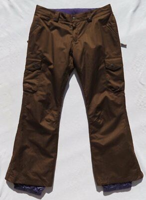 Tall Womens Ski Pants (BURTON Women's Brown Herringbone Twill LUCKY Snowboard Ski Pants size XL Tall)