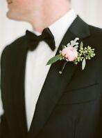 Fresh Flower Boutonnieres for Weddings