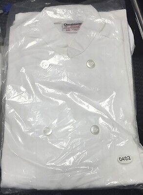 Uncommon Threads 402 Long Sleeve Chef Coat Jacket White New Medium