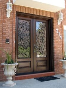 Custom Stained Glass and Wrought Iron Door Inserts - FREE QUOTES