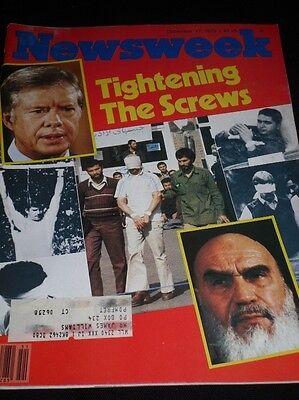 NEWSWEEK MAGAZINE DECEMBER 17 1979 TIGHTENING THE SCREWS JIMMY CARTER KHOMEINI