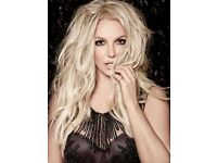 2 Britney Spears 'Lower Tier' Tickets Manchester Arena 18/8/18