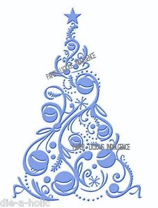 NEW•GORGEOUS••CHRISTMAS  BAUBLE TREE • EMBOSSING FOLDER •FITS CUTTLEBUG + SIZZIX
