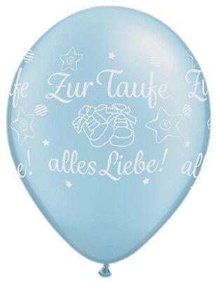 Luftballons zur Taufe alles Liebe Blau 5 St. Taufe Deko NEU ()