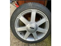 "16"" FORD FIESTA ZETEC S MK 5 Titanium SPOKE 4 STUD ALLOY WHEEL With Tyre"