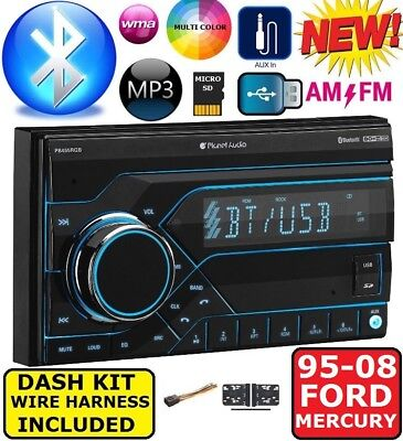 95-08 FORD MERCURY BLUETOOTH USB AUX Car Radio Stereo Double Din Installation