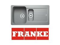 New Franke Aveta 1.5 Stone Tectonite Fully Reversible Kitchen Sink & Waste(Graded)