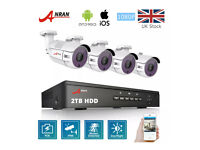 CCTV - POE - 4 HD CAMERAS. 2TB HDD - NIGHT VISION. IPHONE.