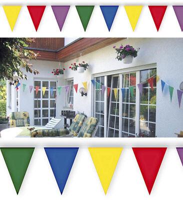 m Dreieck Girlande Fahnen Banner bunte Party Fest Deko 2234 (Bunte Wimpel Banner)