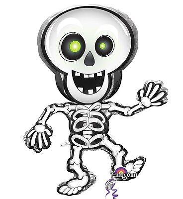 Tanzende Skelett Halloween Kinder Riesiges Helium Folienballon 1-5 Packung ()