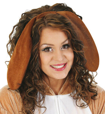 Haarreif Hundeohren braun Hasenohren Schlappohren Tierkostüm - Braun Hasenohren Kostüm