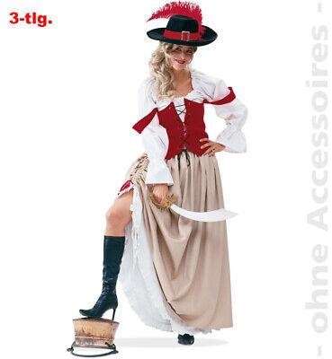 Piratenbraut, Rock, Bluse + Weste Größe - Piraten Weste