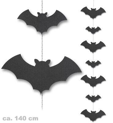 Bat Vampire Halloween Garland Approx. 55 1/8in Long