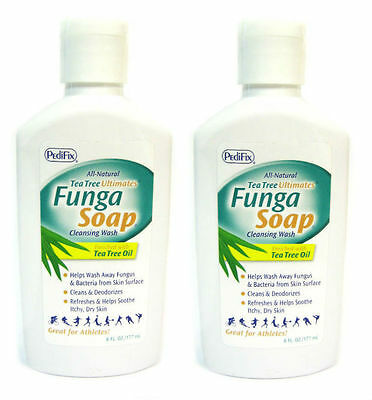 PediFix FungaSoapLiquid with Tea Tree oil, 6 oz.