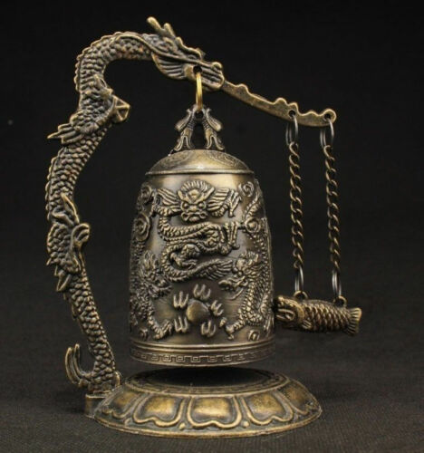 China Favorites Pure copper Dragon pattern Small bronze bell Decoration