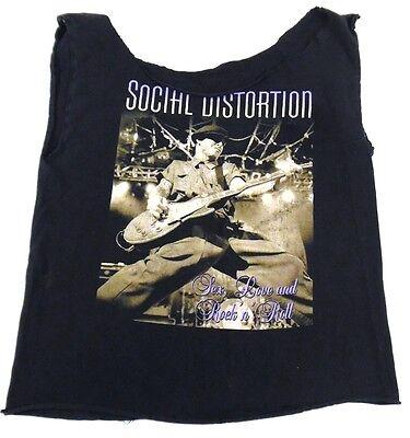 Altered Social Distortion Summer 2005 & US Concert Tee Sex Love & Rock n Roll