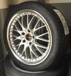 """18"""" DTM Alloys With New Tyres To Suit Commodore Toowoomba Toowoomba City Preview"""